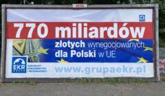 Billboard EKR 770 mld złotych dla Polski
