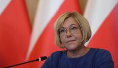 14.09.2020 Krakow , Urzad Wojewodzki . Malopolska Kurator Oswiaty Barbara Nowak podczas konferencji prasowej .