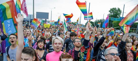 10.07.2019 Poznan , Marsz Rownosci poraz 16. przechodzi ulicami Poznania .