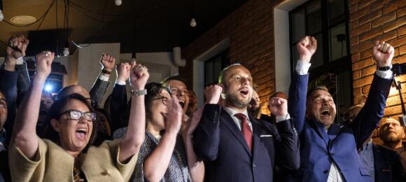 Konrad Fijołek ijego sztab wyborczy