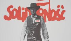 Plakat Solidarności z Gary Cooperem