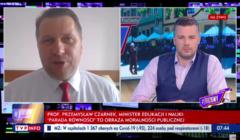 Przemysław Czarnek w programie TVP Info