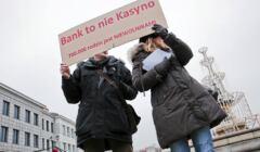 Protest frankowiczow w Bialymstoku