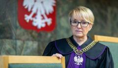 Beata Morawiec w sędziowskiej todze