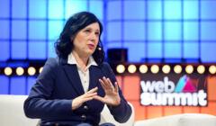 Vera Jourova podczas Web Summit w Lizbonie, 7 listopada 2019 (cc) Sam Barnes/Web Summit