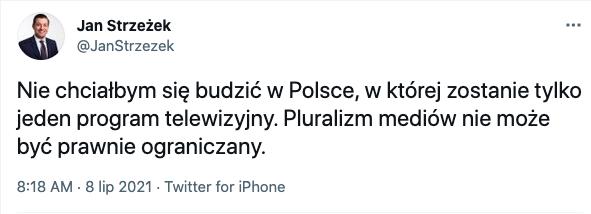 Czy Gowin poprze lexTVN? Jan Strzeżek zabiera głos