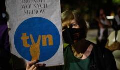 Protest w obronie TVN