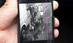 fragment filmu z interwencją policji wobec Bartka z Lubina