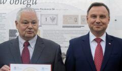 Prezes NBP Adam Glapiński i prezydent Andrzej Duda