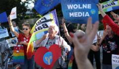 Demonstracje w obronie TVN