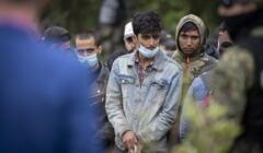 Uchodźcy na granicy polsko - bialoruskiej w Usnarzu Górnym