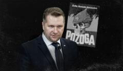 Przemysław Czarnek i okładka książki