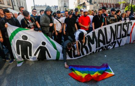 8.05.2019 Krakow . Kontrmanifestacja przeciwko Marszowi Rownosci .