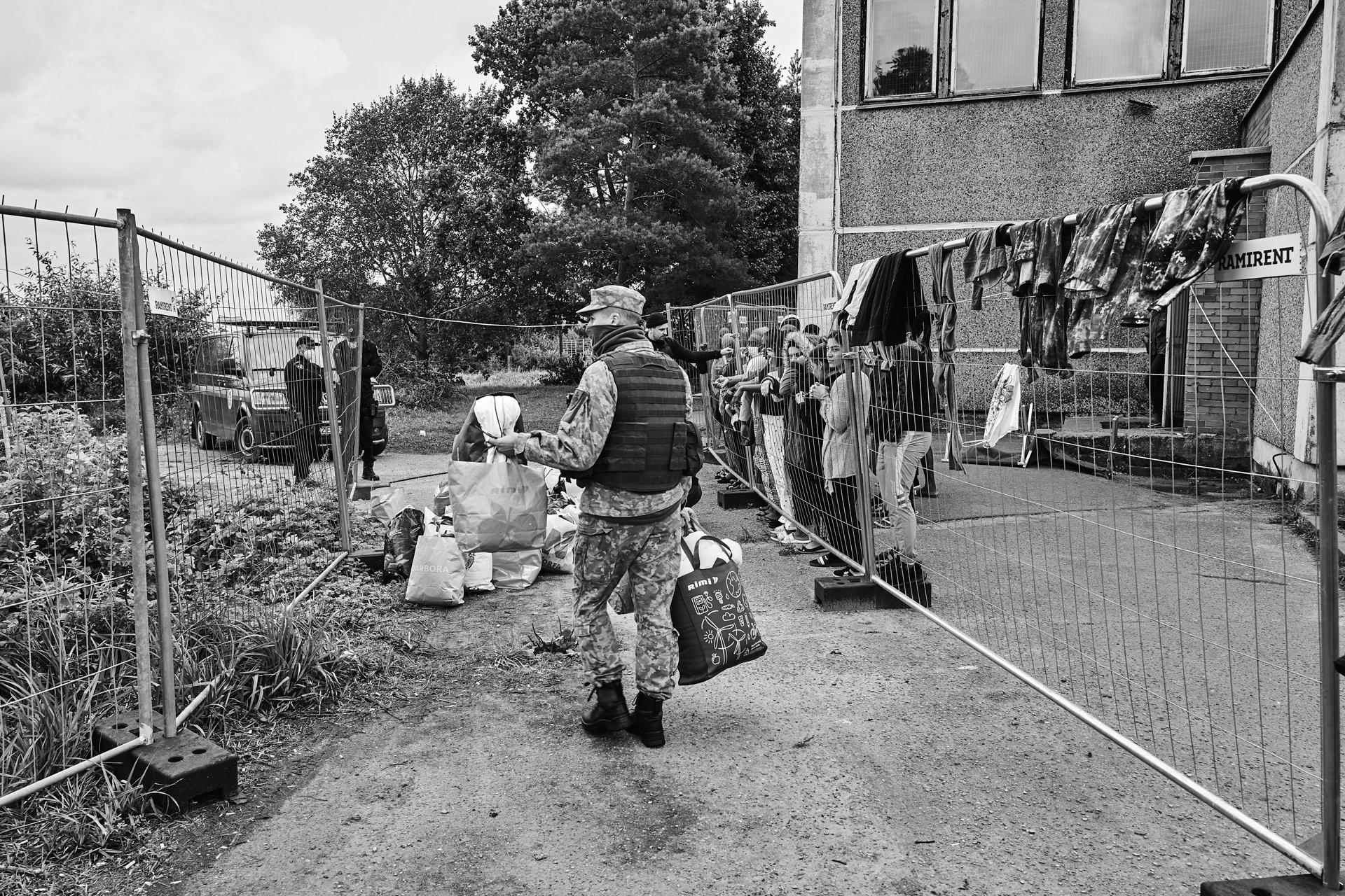 Ośrodek dla uchodźców na Litwie.