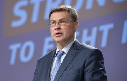 Wiceprzewodniczący KE Valdis Dombrovskis
