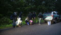 Uchodzcy odnalezieni w Puszczy Bialowieskiej