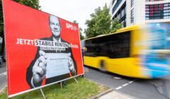 Niemcy. Banner przedwyborczy SPD