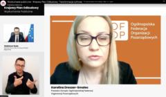 Karolina Dreszer-Smalec podczas wysłuchania publicznego ws. KPO