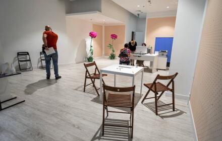 punkt szczepień przeciw COVID-19 w galerii handlowej w Bydgoszczy