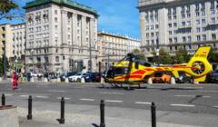 Helkopter Pogotowia Lotniczego na pl. Konstytucji