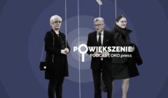 Sędziowie TK: Julia Przyłębska, Stanisław Piotrowicz i Krystyna Pawłowicz – jako marionetki na sznurkach