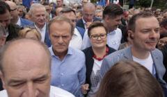 Donald Tusk i Katarzyna Lubnauer.