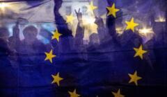 Protest przeciwko wyjsciu Polski z Unii Europejskiej