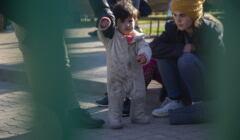 dzieci na granicy Polski z Białorusią