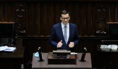 Mateusz Morawiecki przemawia w Sejmie