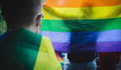 Warszawa, 08.07.2021. Solidarność z osobami LGBT w Gruzji - demonstracja