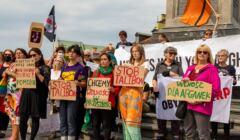 Warszawa, 22.08.2021. Kabul/Kaból – protest Strajku Kobiet w solidarności z zagrożonymi Afgankami i Afgańczykami