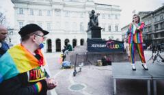 Warszawa, 18.05.2021. Międzynarodowy Dzień Przeciw Homofobii, Transfobii i Bifobii