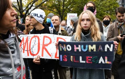 Warszawa, 17.10.2021. Stop torturom na granicy – demonstracja