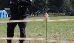 Usnarz Górny, 01.09.2021. Polskie służby nie dopuszczają pomocy do Afgańczyków przetrzymywanych na granicy