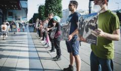 Warszawa, 21.07.2021. Wege dla klimatu – akcja Fundacji Viva!