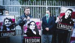 Warszawa, 25.05.2021. Wolność dla więźniów politycznych w Białorusi – pikieta